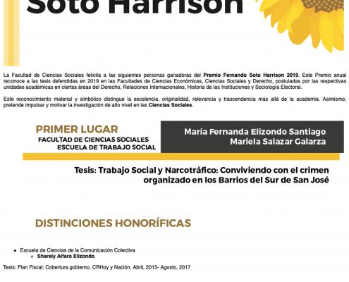 Premio Fernando Soto Harrison